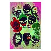 Хардпостер (на твёрдой основе) Suicide Squad